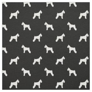 Tela del perro del Schnauzer - blanco y negro