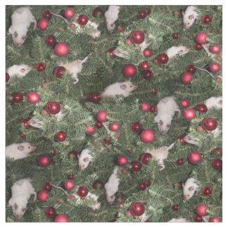 Tela del ratón del navidad