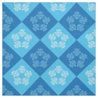 Tela Diseño azul moderno del estampado de plores de