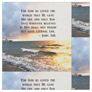 TELA DISEÑO INSPIRADOR DE LA FOTO DEL OCÉANO DEL 3:16