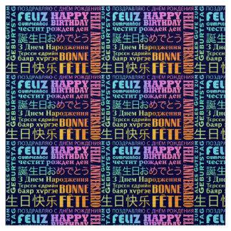 Tela Diseño internacional del feliz cumpleaños