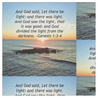 Tela Diseño sereno de la biblia del 1:3 de la génesis