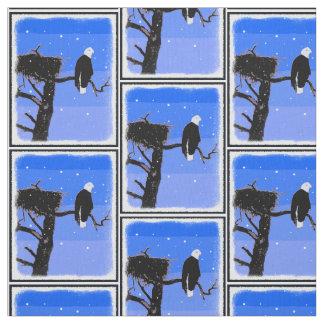 Tela Eagle calvo en invierno