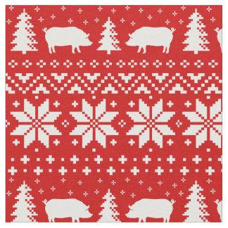 Tela El cerdo siluetea el modelo del navidad