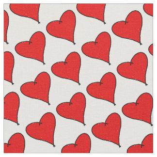 Tela El corazón rojo del amor con negro alinea el amor
