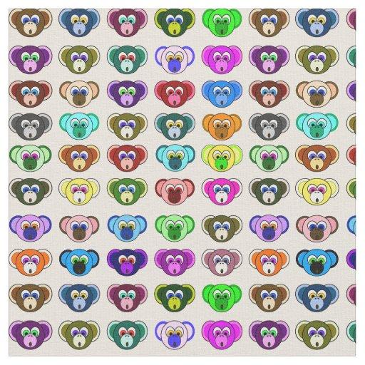 Tela El dibujo animado colorido del manojo del mono