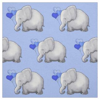 Tela El elefante lindo con el corazón hincha el cuarto