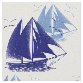 Tela El sitio del muchacho azul del barco del vintage