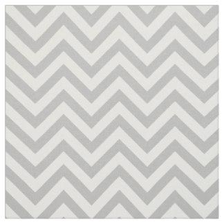 Tela El zigzag gris y blanco raya el modelo de Chevron