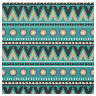 Tela elegante moderna tribal azteca del oro negro