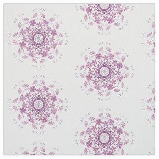Tela elemento púrpura retro floral