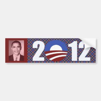 Tela escocesa 2012 de Obama Pegatina Para Coche