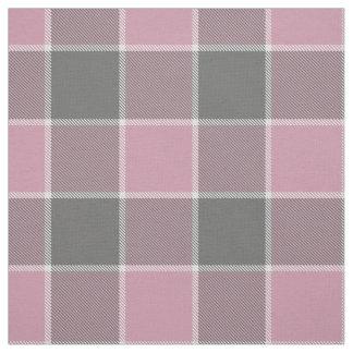 tela escocesa a cuadros rosada del blanco gris