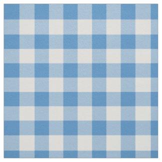 Tela escocesa azul clara y blanca de la guinga