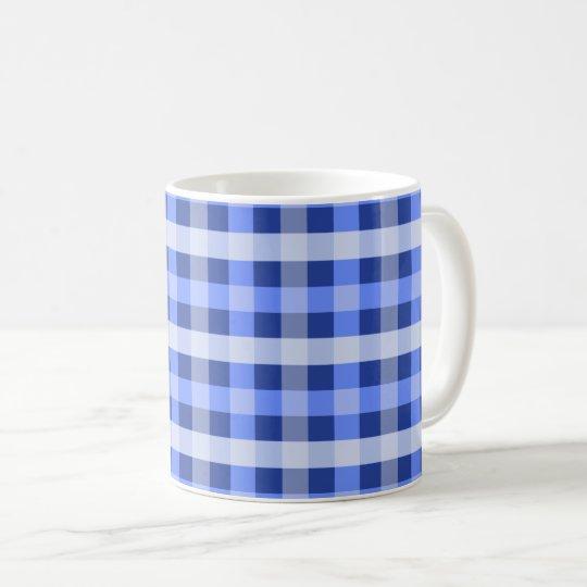 Tela escocesa azul taza de café
