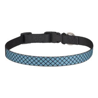 Tela escocesa Cuello-Azul del perro Collar Para Mascotas