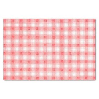 Tela escocesa de la comida campestre papel de seda