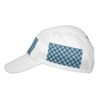 Tela escocesa de tartán azul del efecto del brillo gorra de alto rendimiento