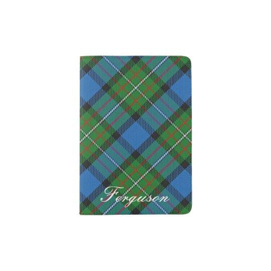 Tela escocesa de tartán de Fergusson del clan del Portapasaportes