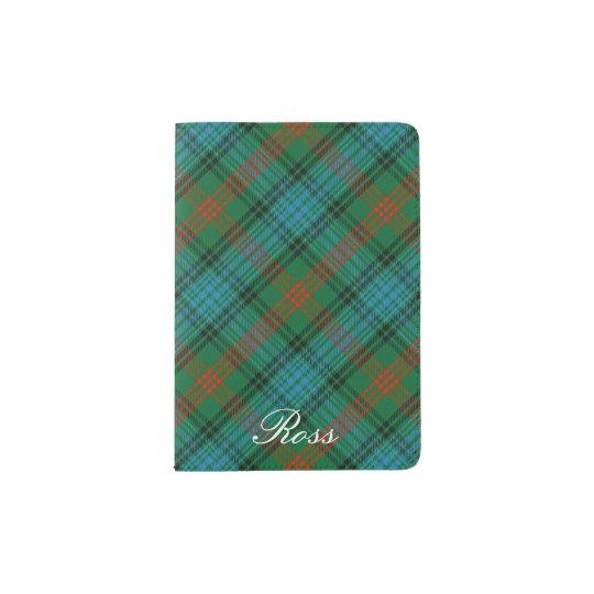 Tela escocesa de tartán de Ross del clan del Portapasaportes