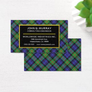 Tela escocesa de tartán escocesa de Murray del Tarjeta De Visita