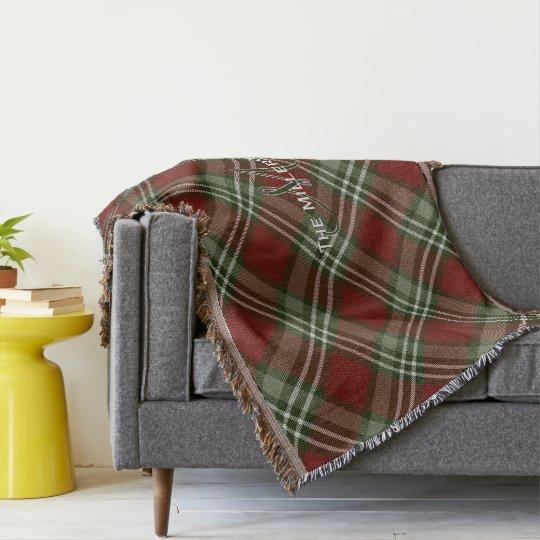 tela escocesa de tartán grayed blanca verde roja manta