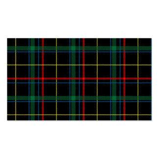 Tela escocesa de tartán masculina tarjetas de visita