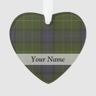 Tela escocesa de tartán verde