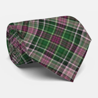 Tela escocesa diagonal roja y verde violeta corbatas