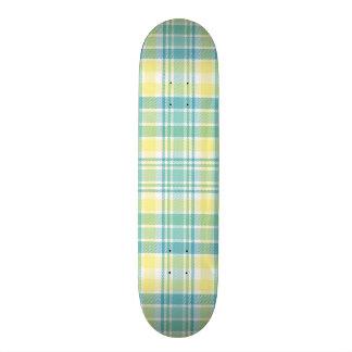 Tela escocesa en colores pastel tablas de skate
