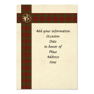 Tela escocesa escocesa masculina de la plantilla invitación 12,7 x 17,8 cm
