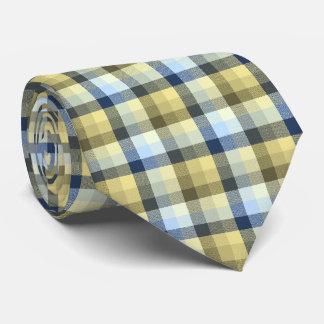 Tela escocesa loca del control de color caqui y corbata personalizada