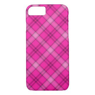 Tela escocesa rosada bonita funda iPhone 7