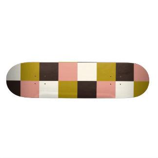 Tela escocesa rosada de la marfil del chocolate monopatín 20 cm