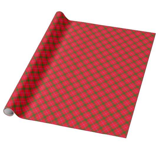 Tela escocesa/tartán del día de fiesta papel de regalo