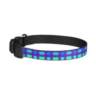 Tela escocesa viva de los azules collar para mascotas