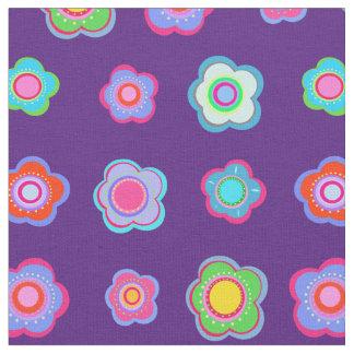 Tela Estampado de flores púrpura