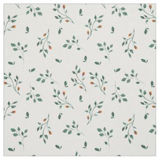 Tela Estampado de flores verde blanco delicado