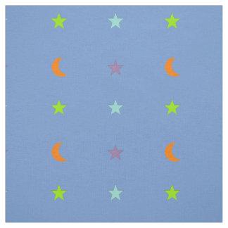 Tela Estrellas y luna 3 de los colores claros