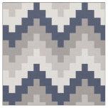 Tela Fabric Chevron Geométrico Pattern Azul y Gray