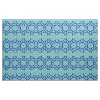 Tela - filas de hexágonos en azul