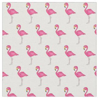 Tela Flamencos tropicales blancos rosados bonitos del