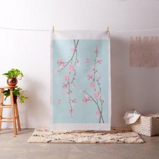 Tela Flor de cerezo - azul de cielo