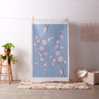 Tela Flor de cerezo - azul de la serenidad