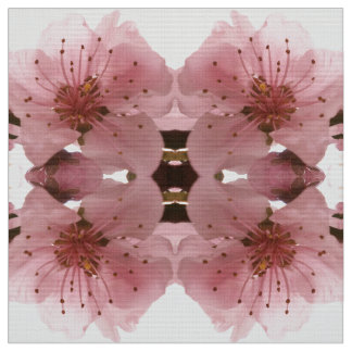 Tela flor de cerezo. Modelo floral de la primavera