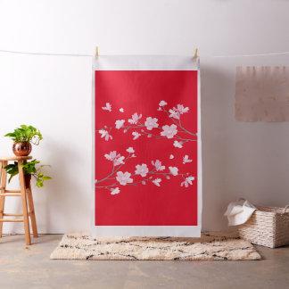 Tela Flor de cerezo - rojo