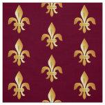 Tela Flor de lis del oro en Borgoña