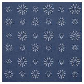 Tela floral abstracta azul de medianoche bonita