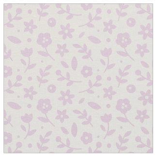 Tela floral de la primavera - lila telas
