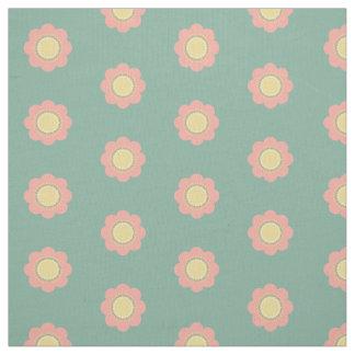 Tela Flores de los rosas bebés y del amarillo del
